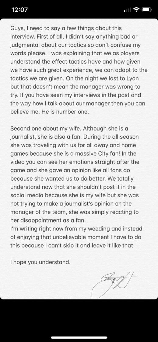 """Зинченко пришлось оправдываться перед фанами """"Манчестер Сити"""" прямо во время свадьбы [фото]"""