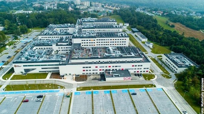 Szpital Uniwersytecki в Кракове – это большой и современный медицинский центр. ФОТО: wiadomosci.onet.pl