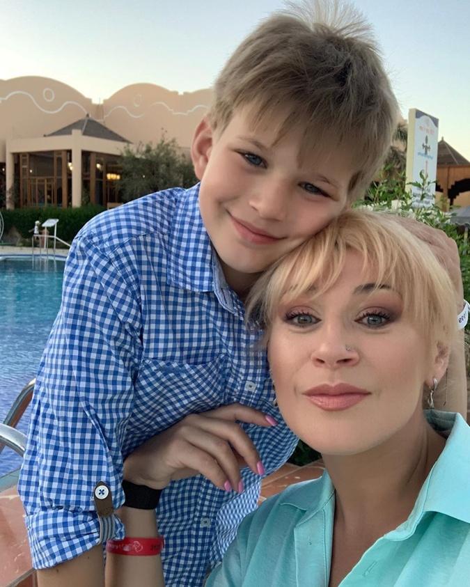 С сыном Даней. Фото: Инстаграм