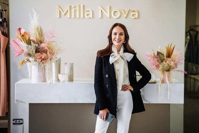 С Кристиной мы поговорили на бранче в свадебном салоне Milla Nova.