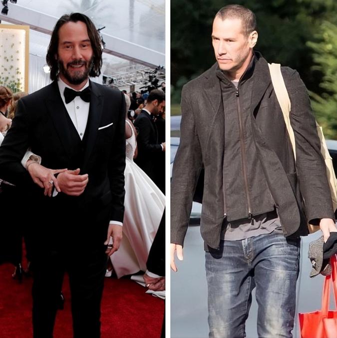 Киану Ривза просто не узнать. До этого актер носил длинные волосы и бороду. Фото: Фото: instagram.com/keanu_reeevesss и Reuters