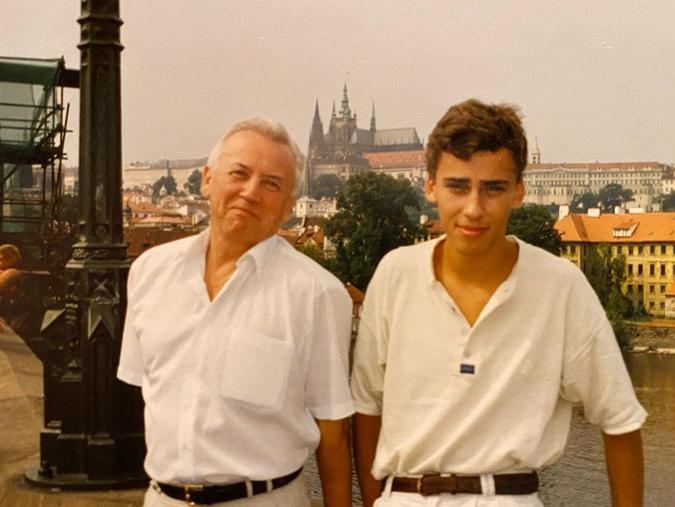 Максим Галкин в Праге с отцом.