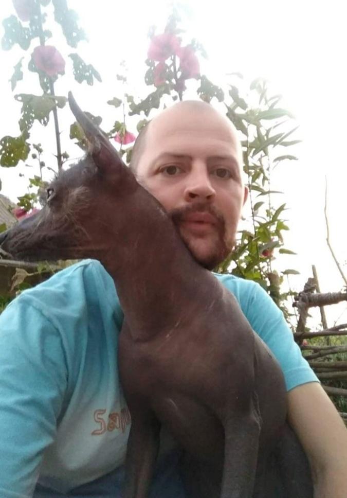 Друзья шутят пес у Петра был таким же уникальным, как и он сам.
