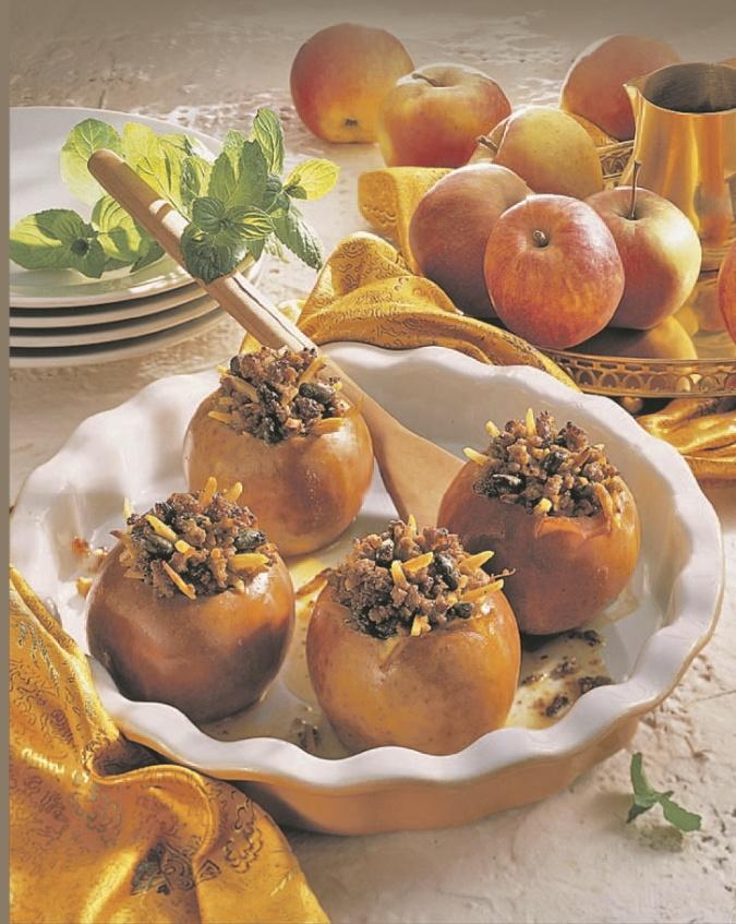 яблоки с мясом