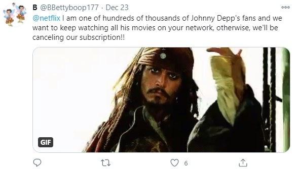 Фанаты Джонни Деппа заявили, что Netflix удалил все фильмы с актером фото 6