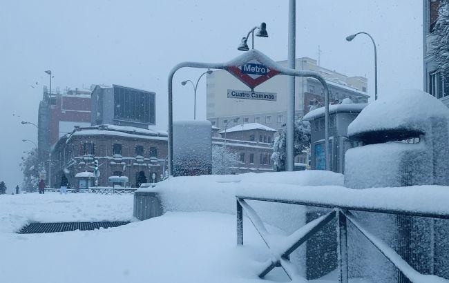 Мадрид парализован в результате сильнейшего за полвека снегопада.