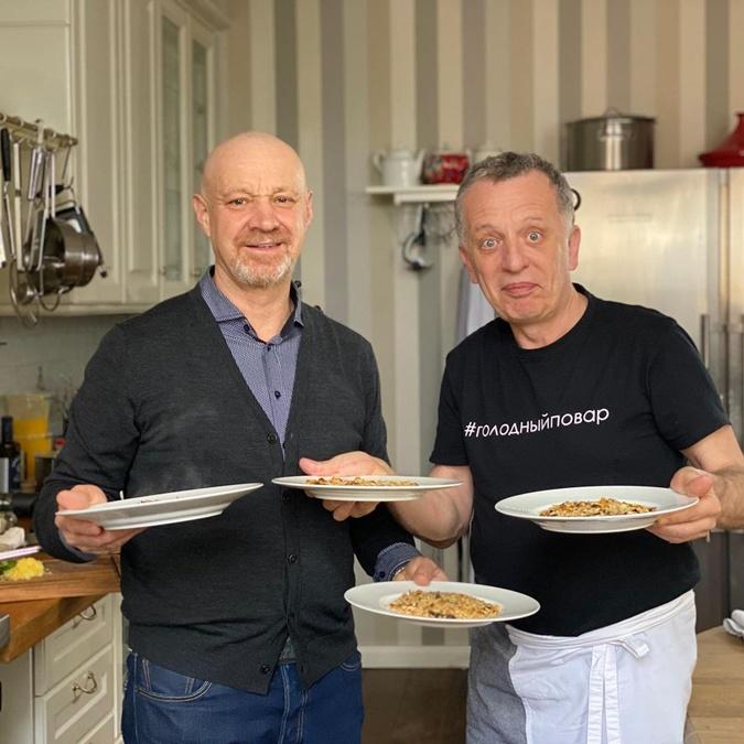 На кухне с Георгием Делиевым. Фото: Инстаграм Либкина