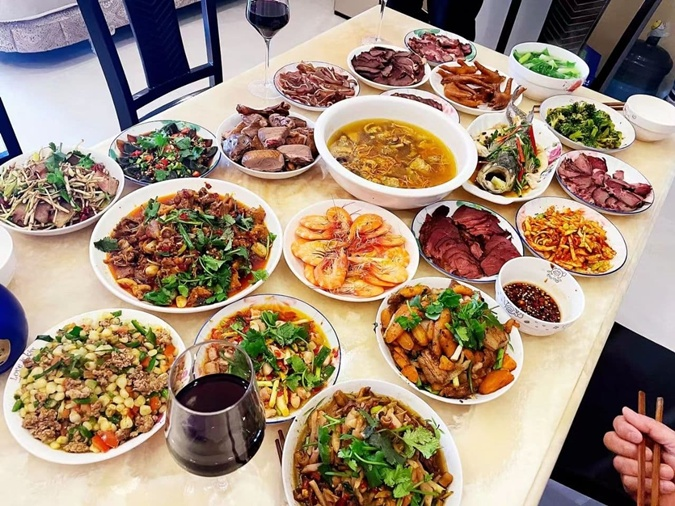 ужин в Китае