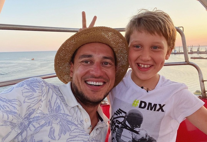 Евгений Синельников с сыном Алексеем