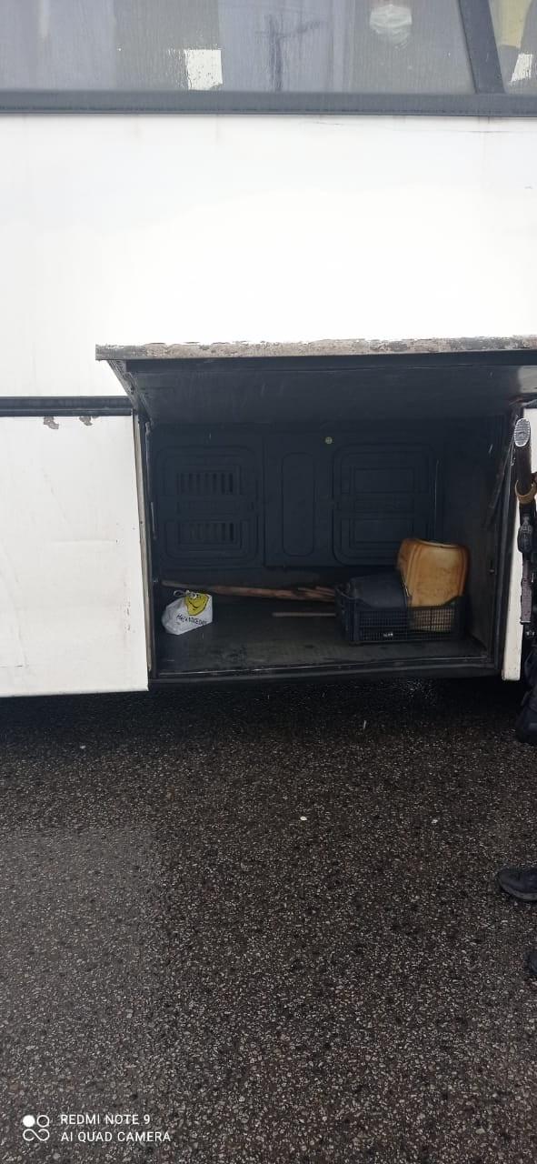 багажник автобуса