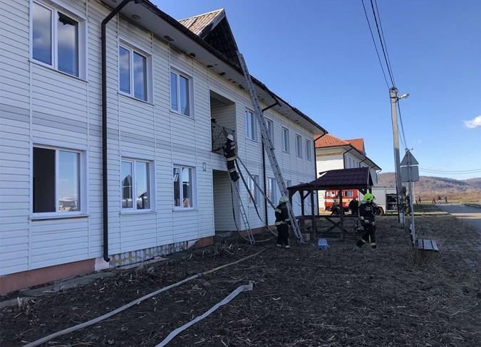 пожар в комплексе Солотвинский