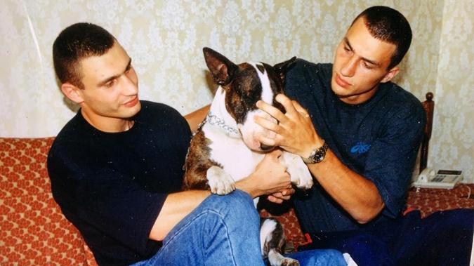 Братья Кличко в молодости