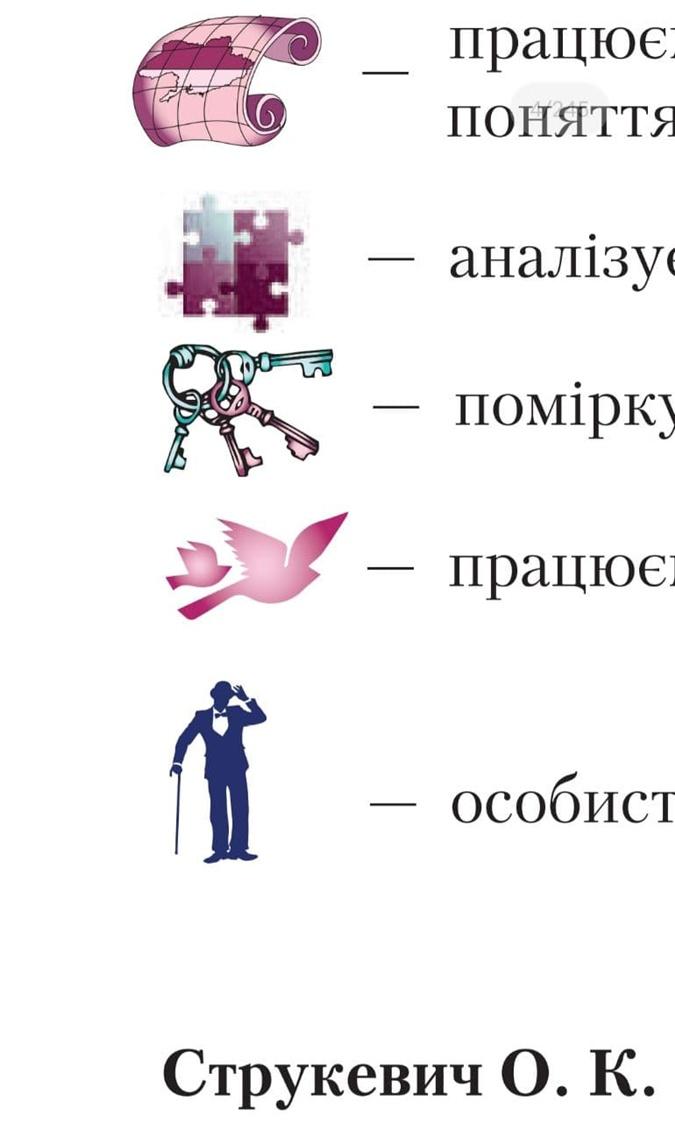 Верхняя пиктограмма содержит изображение Украины без Крыма и встречается по всему учебнику.