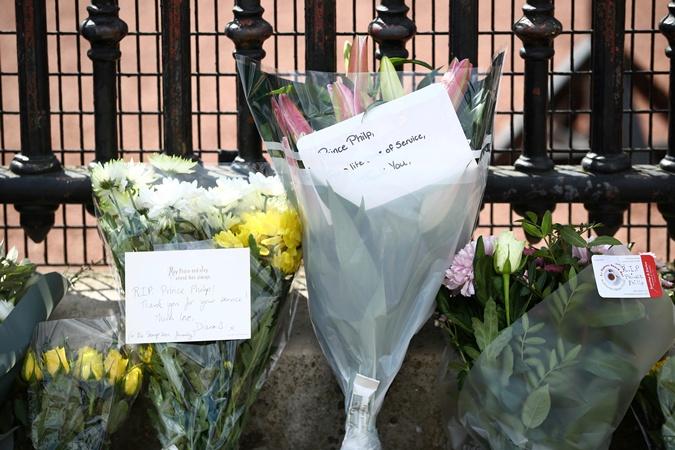цветы принцу Филиппу