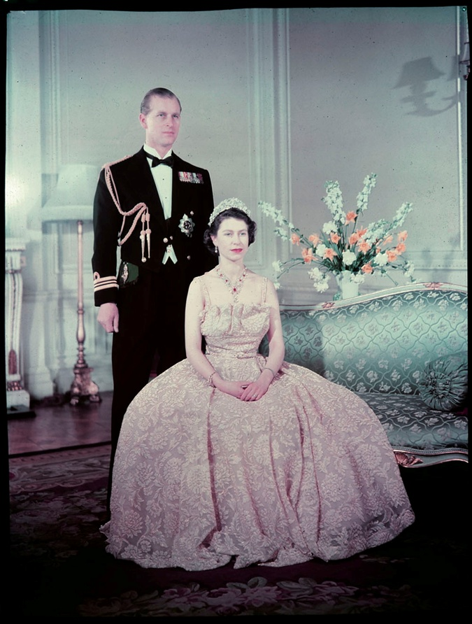 Принц Филипп и королева Елизавета 2 в молодости