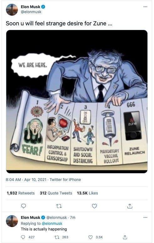 Илон Маск переделал карикатуру Бена Гаррисона