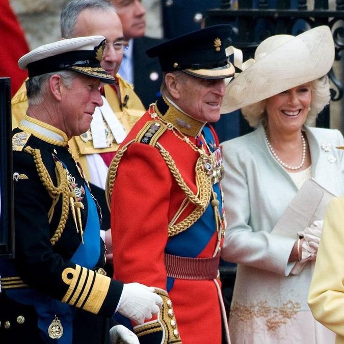 принц Чарльз, герцогиня Камилла, принц Филипп