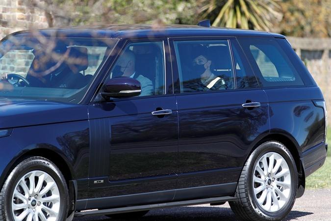 Кейт Миддлтон и принц Уильям на похоронах принца Филиппа
