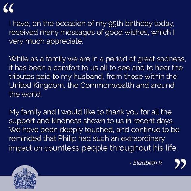 Заявление королевы Великобритании Елизаветы 2