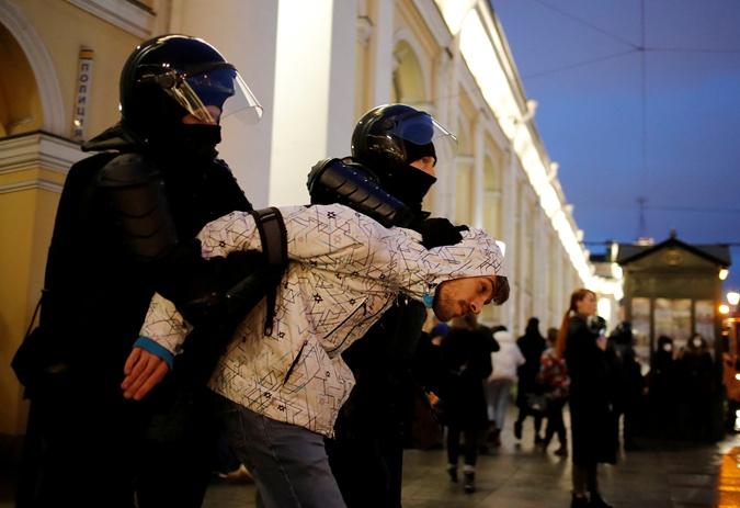 силовики задержали протестующего РФ