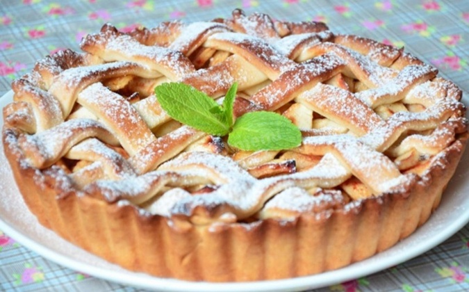 Американский пирог с яблоками.