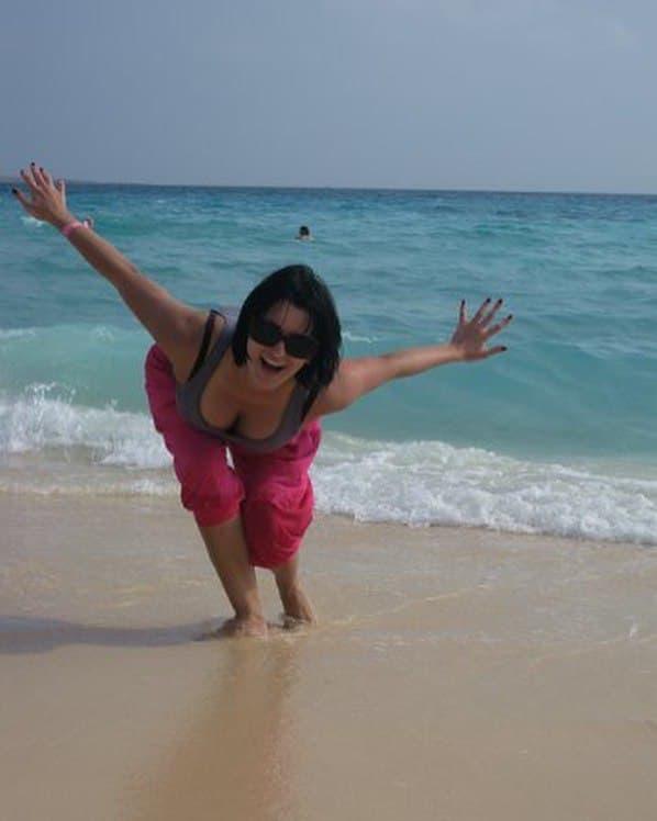 Лиза Глинская на море