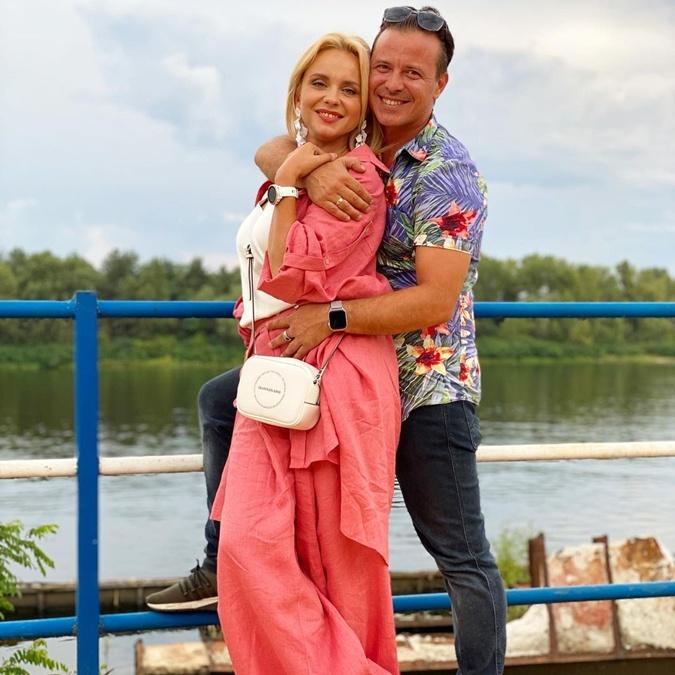 Лилия Ребрик с мужем