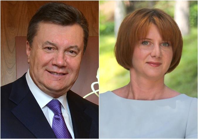 Виктор Янукович и его несменяемая Дарья Чепак.