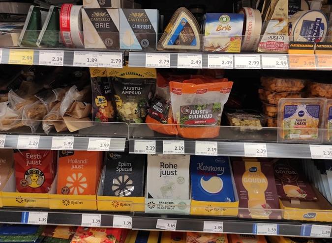 цены в супермаркете эстонии