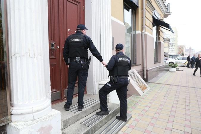 полиция у дома Кличко