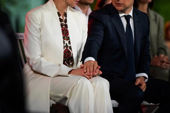 Президент Зеленский и его супруга.