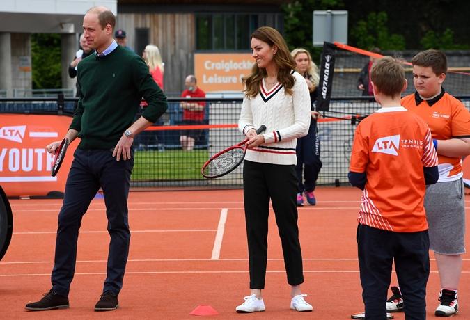 кейт миддлтон и принц уильям теннис
