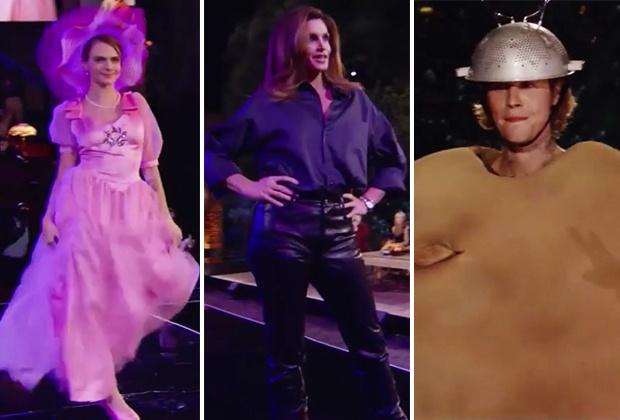 Звезды повторили серию о показе мод.