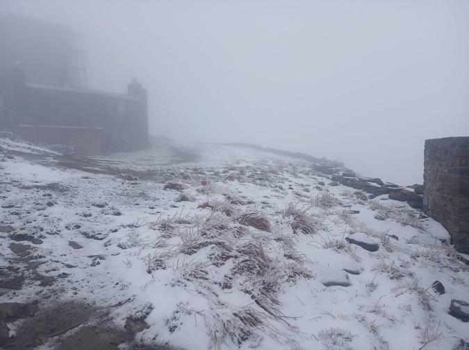 В Карпатах идет снег