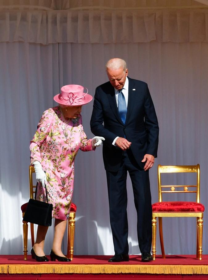 королева великобритании, президент сша