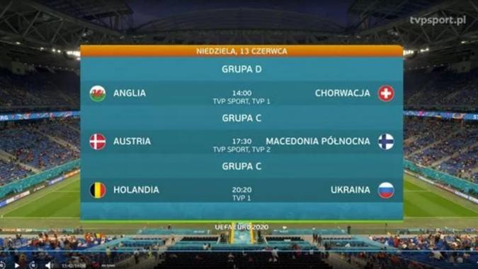 """На польском телевидении Украину """"выпустили"""" на матч с Нидерландами под российским флагом [фото]"""