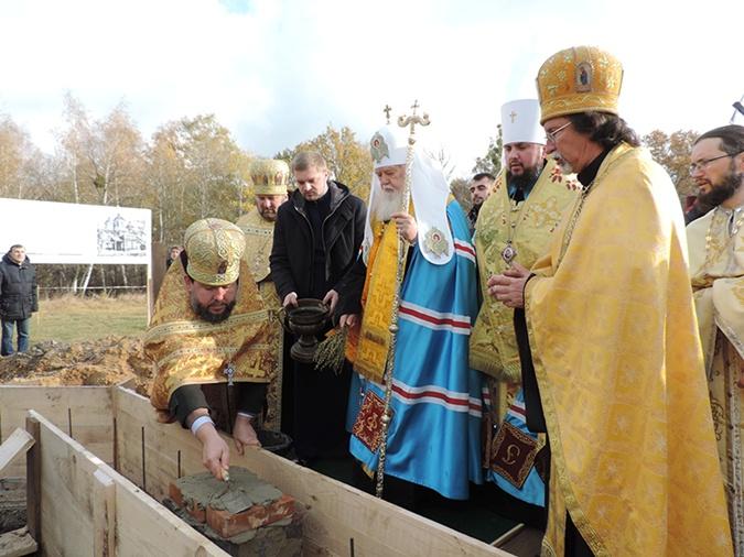 Закладка первого камня церкви в Пирогово. Фото: artes-almanac.com