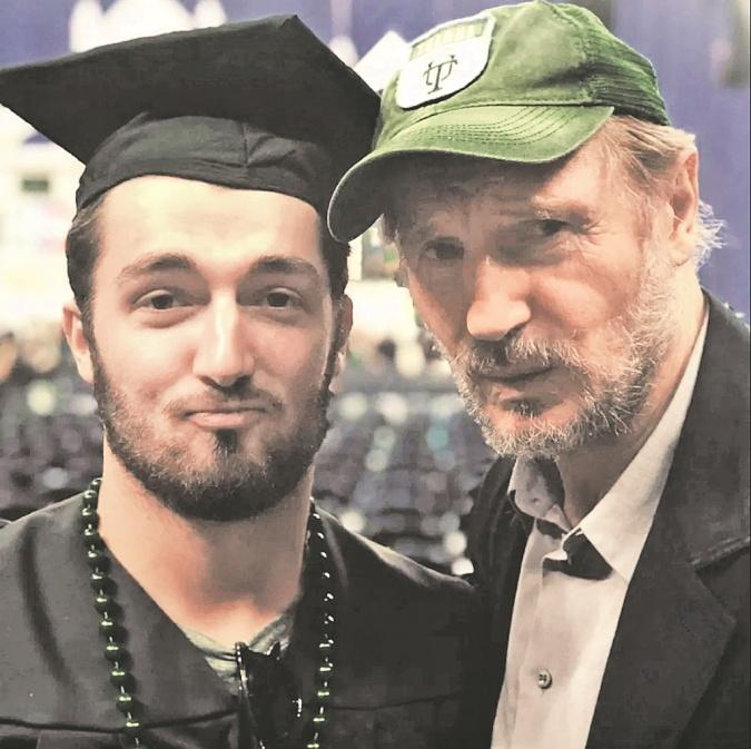 Лиам Нисон с сыном