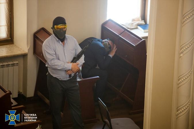 Учения СБУ в синагоге