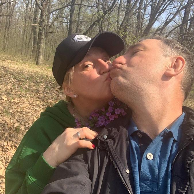 Инна Белоконь с мужем Олегом