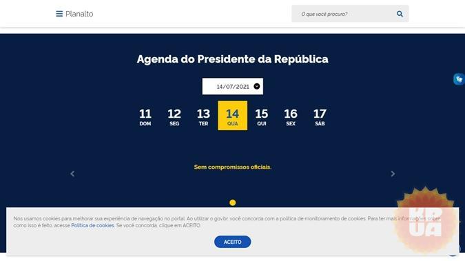 скриншот gov.br/planalto/pt-br