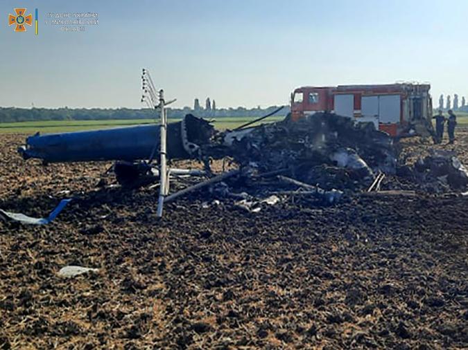 Разбился вертолет Николаевская область