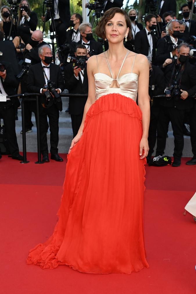 Мэгги Джилленхол на церемонии закрытия Каннского кинофестиваля