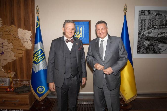 Арсен Аваков и Джордж Кент