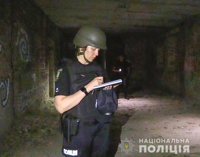 Взрыв в ночном Киеве