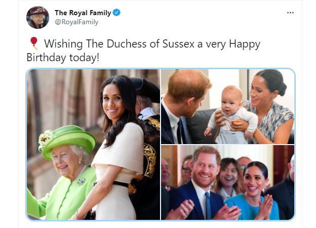 Королева Елизавета поздравила Меган Маркл с 40-летием