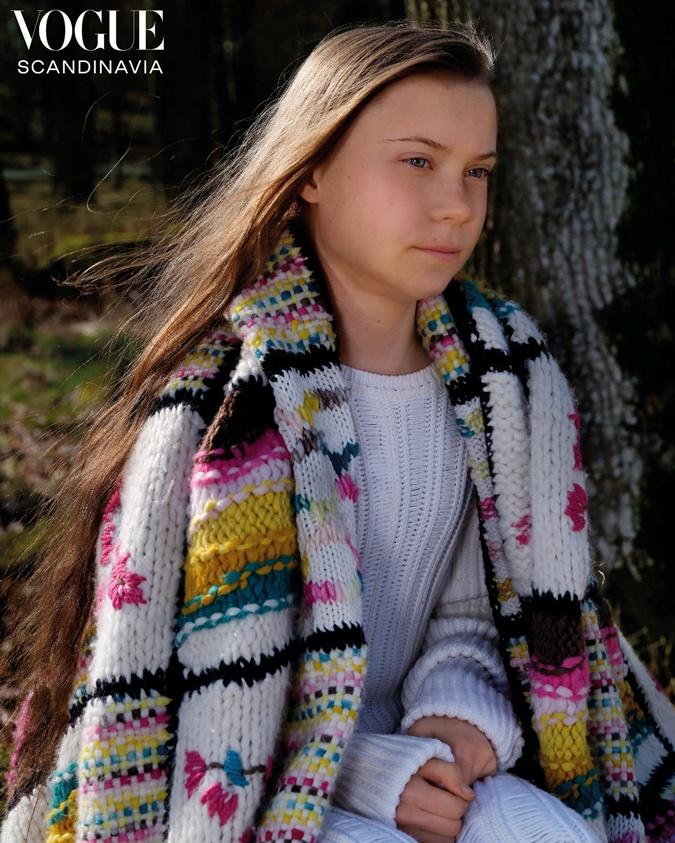 Грету Тунберг выбрали для обложки первого выпуска Vogue Scandinavia фото 1