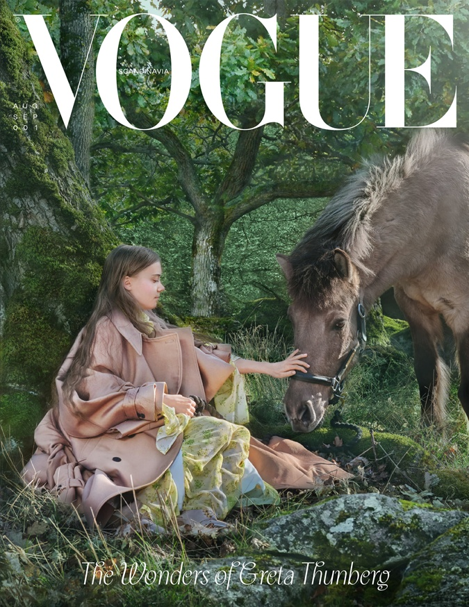 Грету Тунберг выбрали для обложки первого выпуска Vogue Scandinavia фото 2