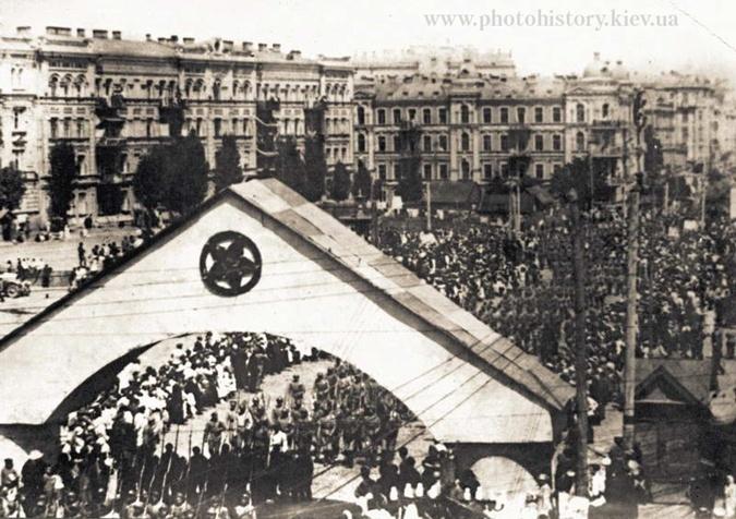 военный парад большевиков