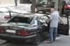 Водителю повезло - в момент взрыва его в машине не было. Фото Павла Дацковского